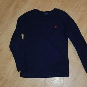 Navy blue polo long sleeved shirt
